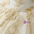 Glamorous Champagne Tulle Lace Appliques Off The Shoulder Wedding Dress