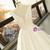 White Satin Ball Gown Deep V-neck Backless Wedding Dress