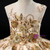 Champagne Ball Gown Tulle Sequins Appliques Backless Flower Girl Dress