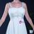 White Chiffon Spaghetti Straps Backless Apliques Beach Wedding Dress