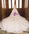 Light Champagne Ball Gown Lace Off The Shoulder Short Sleeve Wedding Dress