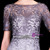 Gray Lace Sheath Short Sleeve Knee Length Mother Of The Bride Dress