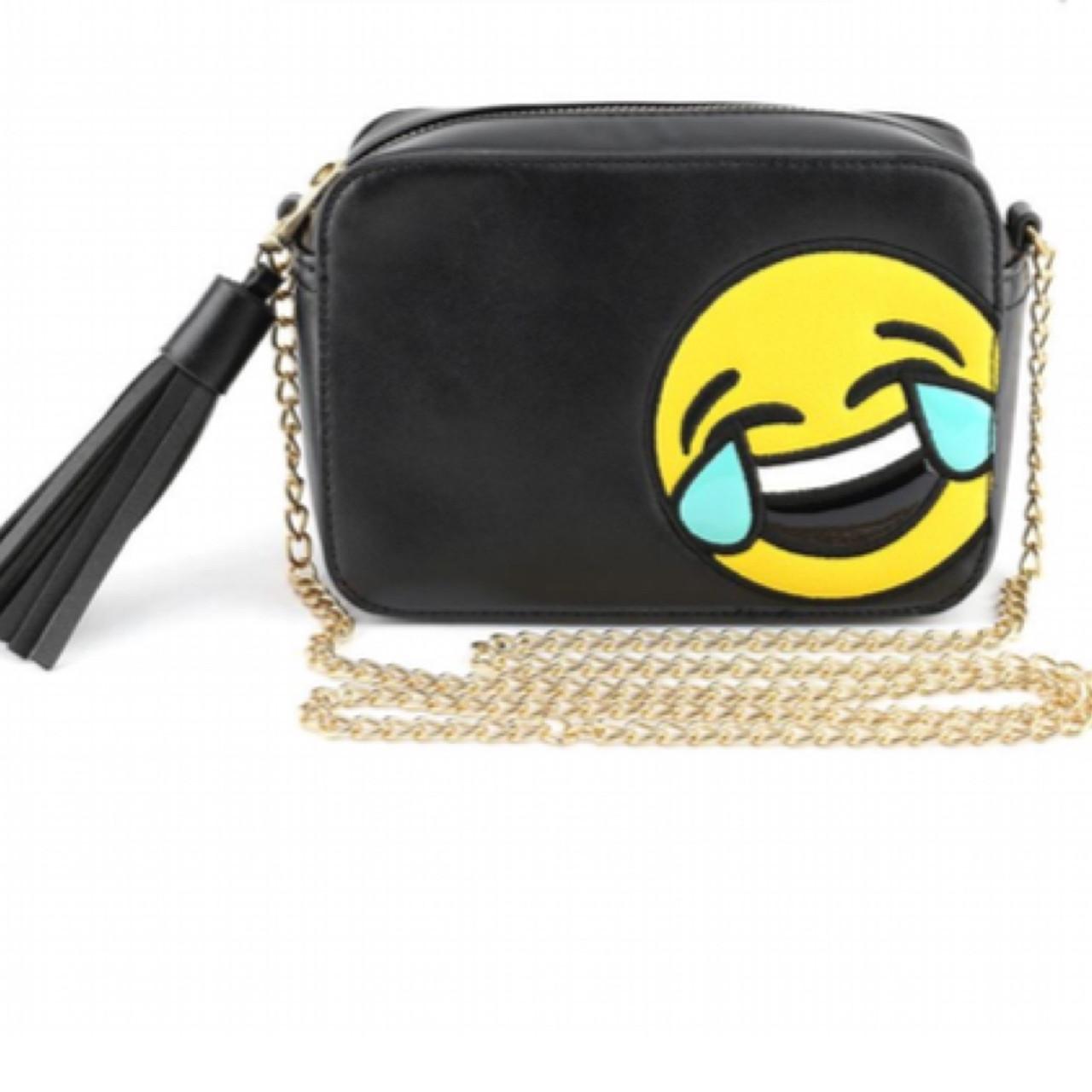 Tears of Joy Emoji - Black