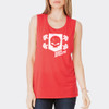 Women's Power Athlete Muscle Tank - Red
