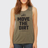 Move The Dirt Muscle Tank Green