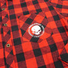 Power Athlete Red And Black Flannel Close-up