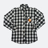 Power Athlete Black And White Flannel
