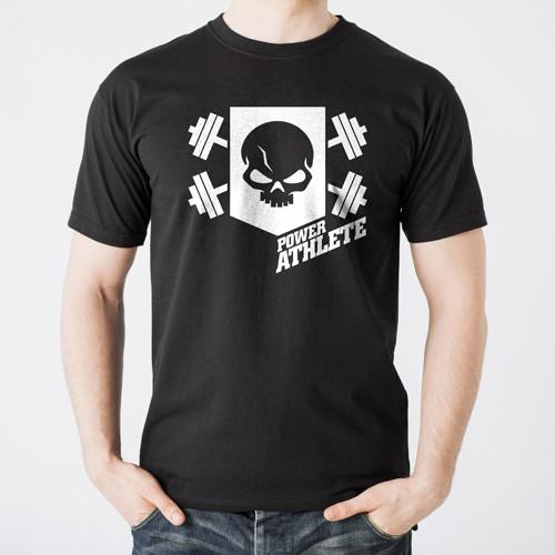 Men's Power Athlete Shield T-Shirt - Black