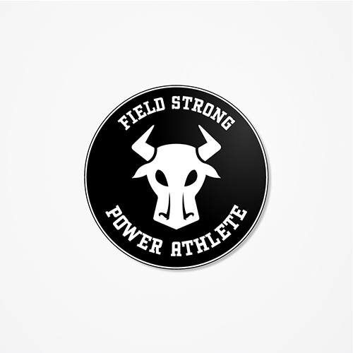 Field Strong - Round Cut Helmet Decal