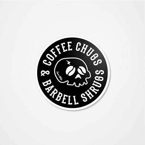 Coffee Chugs & Barbell Shrugs Sticker