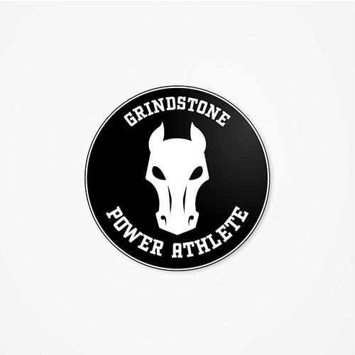 Grindstone - Round Cut Helmet Decal