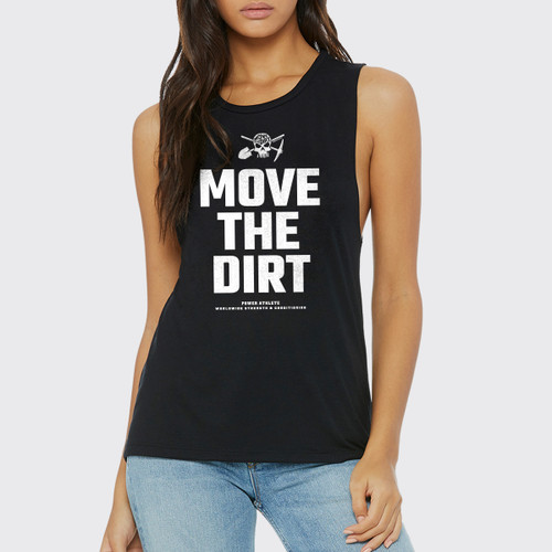 Move The Dirt Muscle Tank Black Front