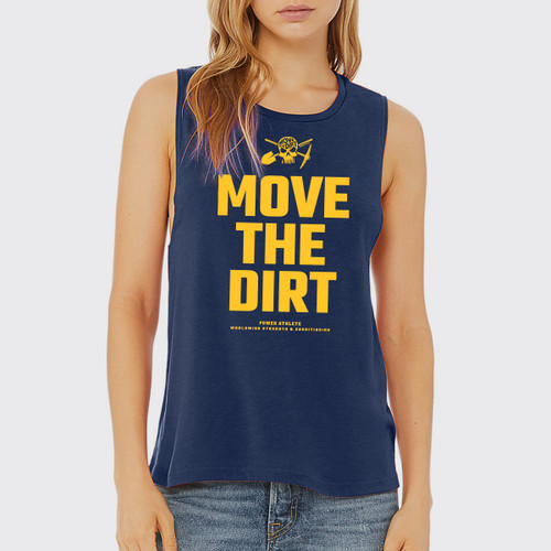 Move The Dirt Muscle Tank Navy