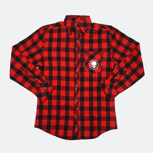 Power Athlete Red And Black Flannel