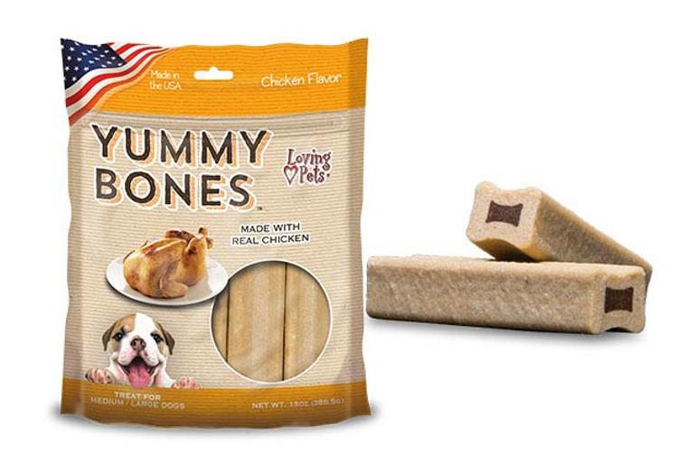 Yummy Bones Chicken Flavor (13 oz. Bag)