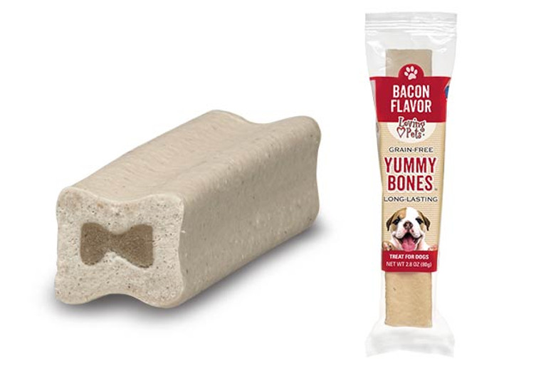 Yummy Bones Singles Bacon Flavor Dog Treats