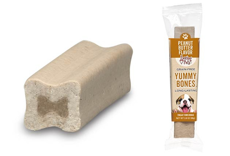 Yummy Bones Singles Peanut Butter Flavor Dog Treats