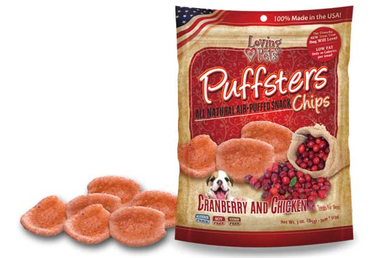 Puffsters Cranberry and Chicken Chips