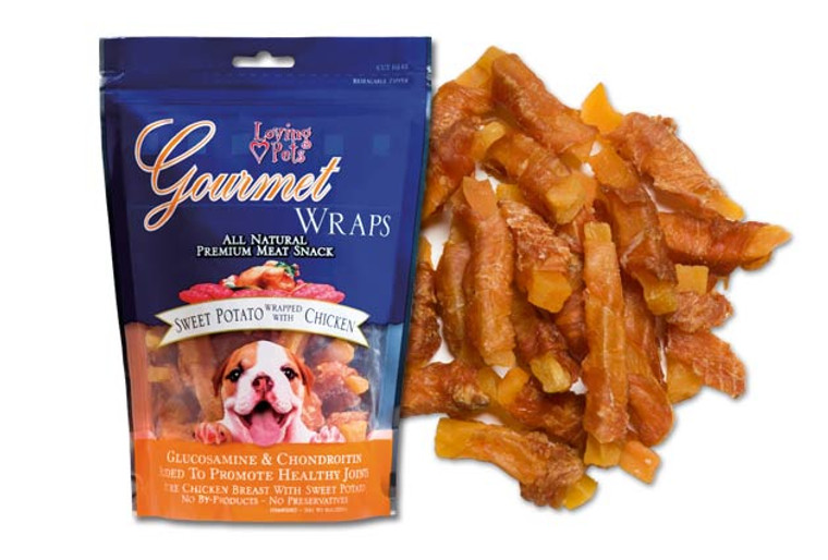 Gourmet Sweet Potato & Chicken Wraps