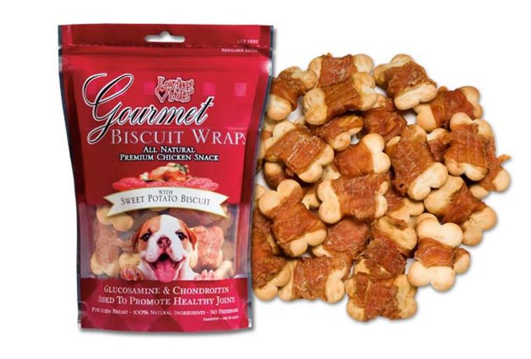 Gourmet Sweet Potato Biscuit & Chicken Wraps