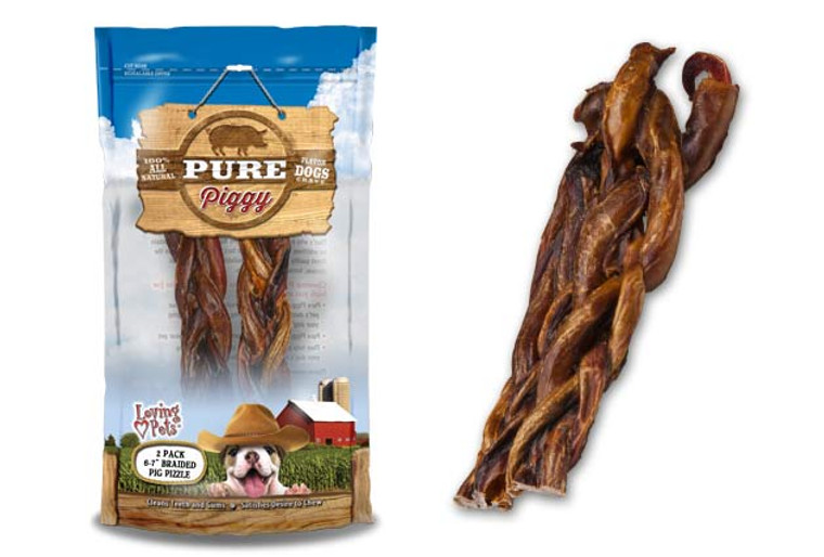 Pure Piggy Braided Pig Pizzle (2 Pack)