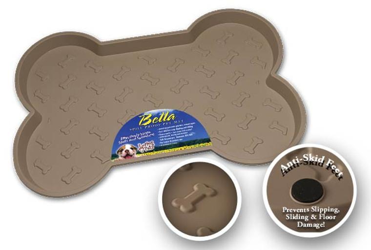 Bella Spill-Proof Dog Mat - Tan