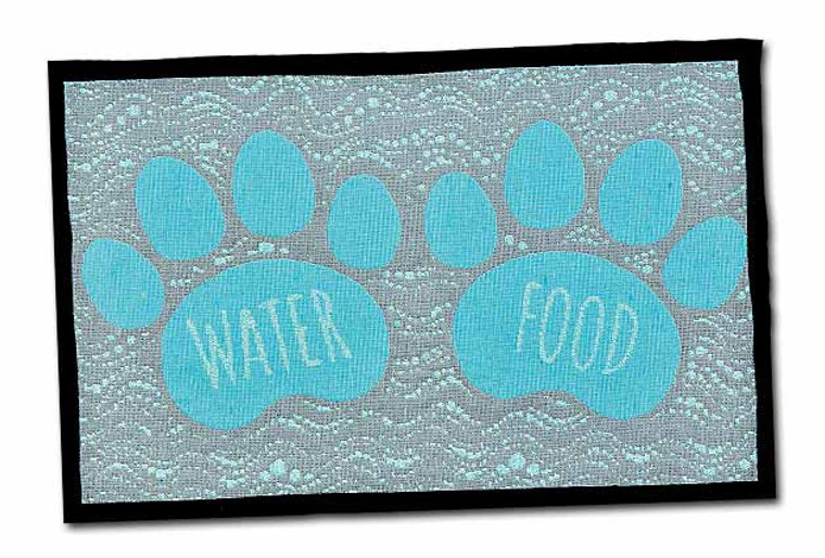 Food and Water Fashion Mat