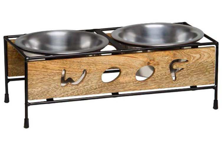 Wooden Woof Cut Dog Diner