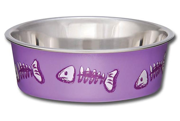 Bella Bowl Fish Skeleton Design - Lilac
