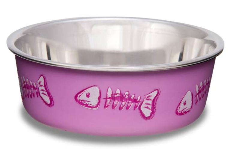 Bella Bowl Fish Skeleton Design - Pink