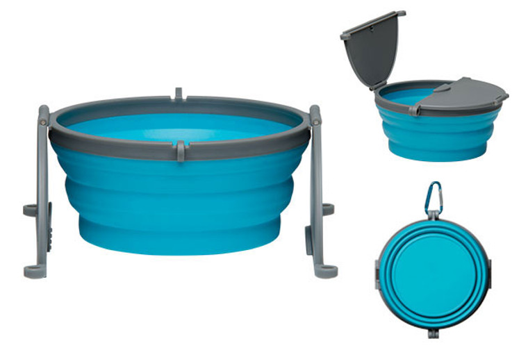 Loving Pets Bella Roma Single Travel Bowl in Blue
