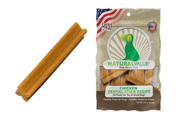 Natural Value Chicken Dental Sticks for Toy / Small (10 Pack)