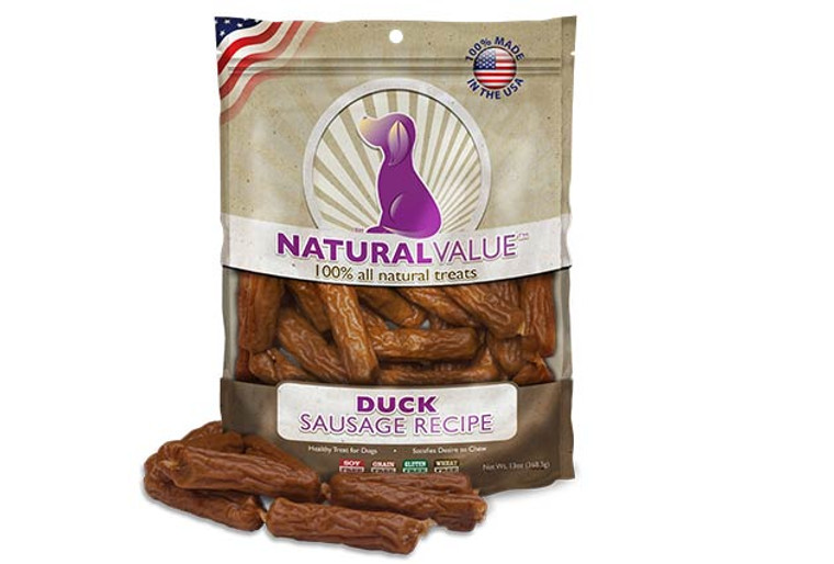 Natural Value Soft Chew Duck Sausages
