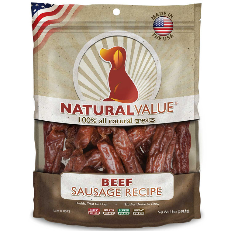 Natural Value Soft Chew Beef Sausages