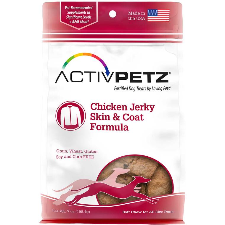 Activpetz Chicken Jerky Skin & Coat Formula