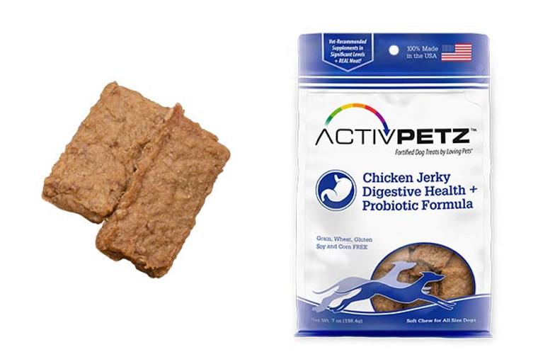 Activpetz Chicken Jerky Digestive Health + Probiotic Formula