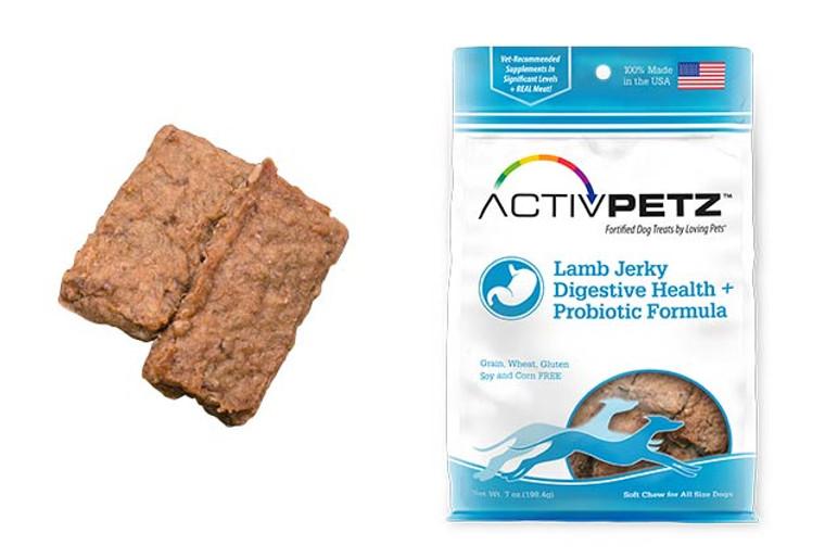 Activpetz Lamb Jerky Digestive Health + Probiotic Formula