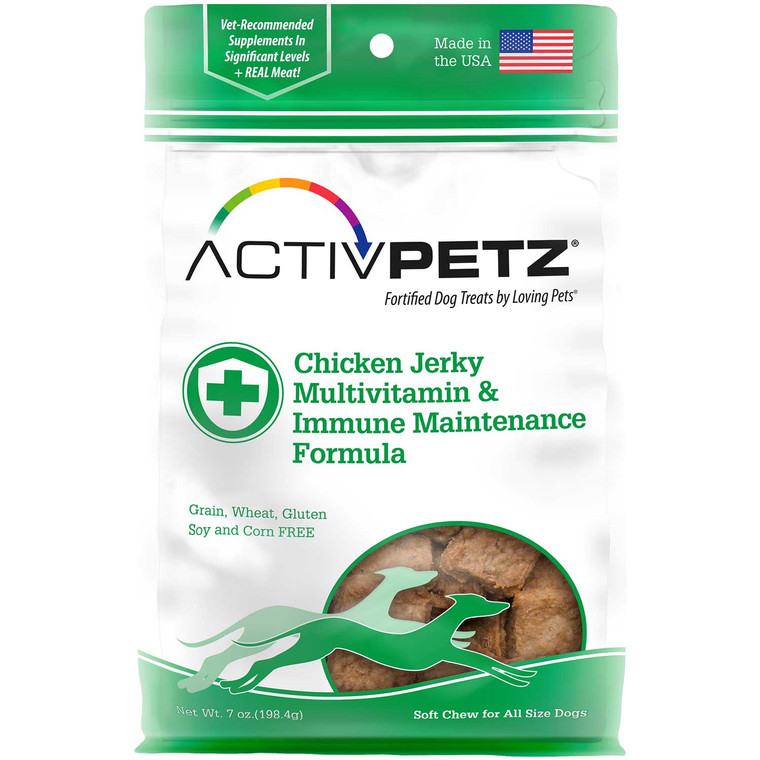 Activpetz Chicken Jerky Multivitamin & Immune Maintenance Formula