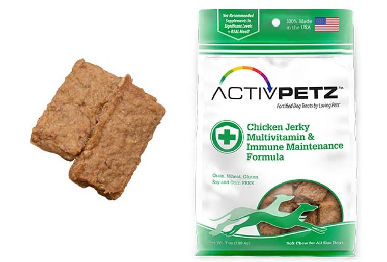 Activpetz Chicken Jerky Multivitamin & Immune Maintenance Formula
