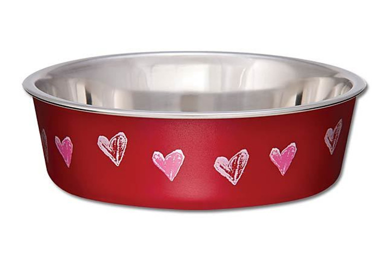 Bella Cat Bowl - Valentine Red Hearts