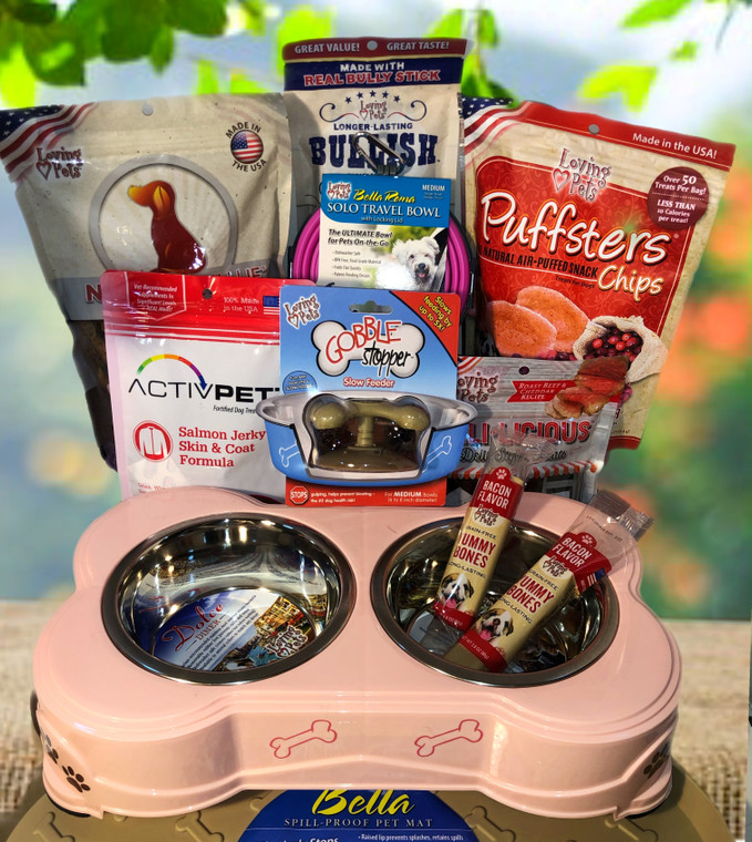 Pretty in Pink Dog  Gift Basket