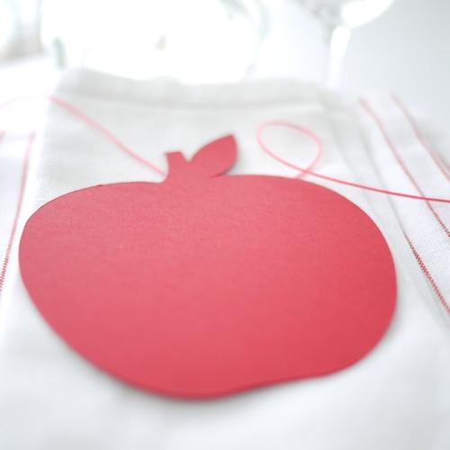 Pomme décorative et marque-place