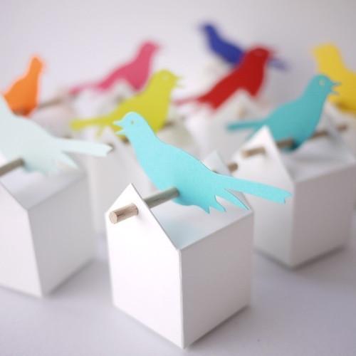 Etiquette Oiseau pour boite et contenants à dragées