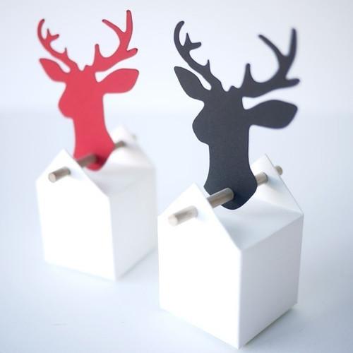 Etiquette Cerf en papier