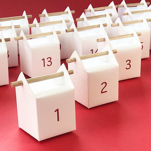 Boites numérotées pour Calendrier de l'Avent