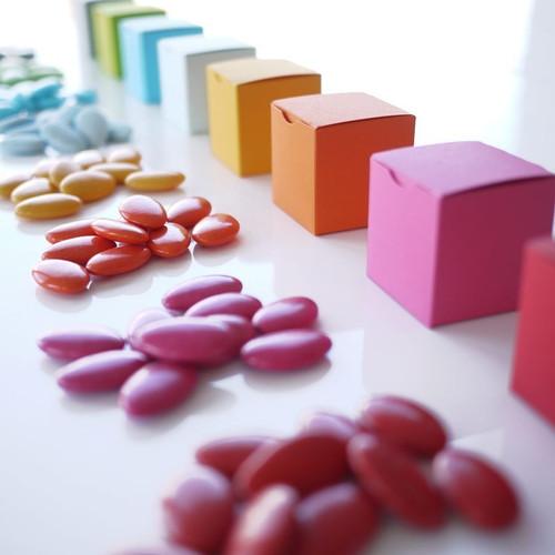 Dragées chocolat de toutes les couleurs