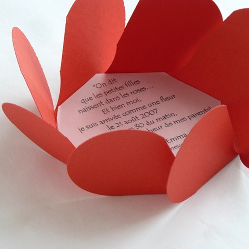Feuillet imprimé pour Carte Fleur faire-part