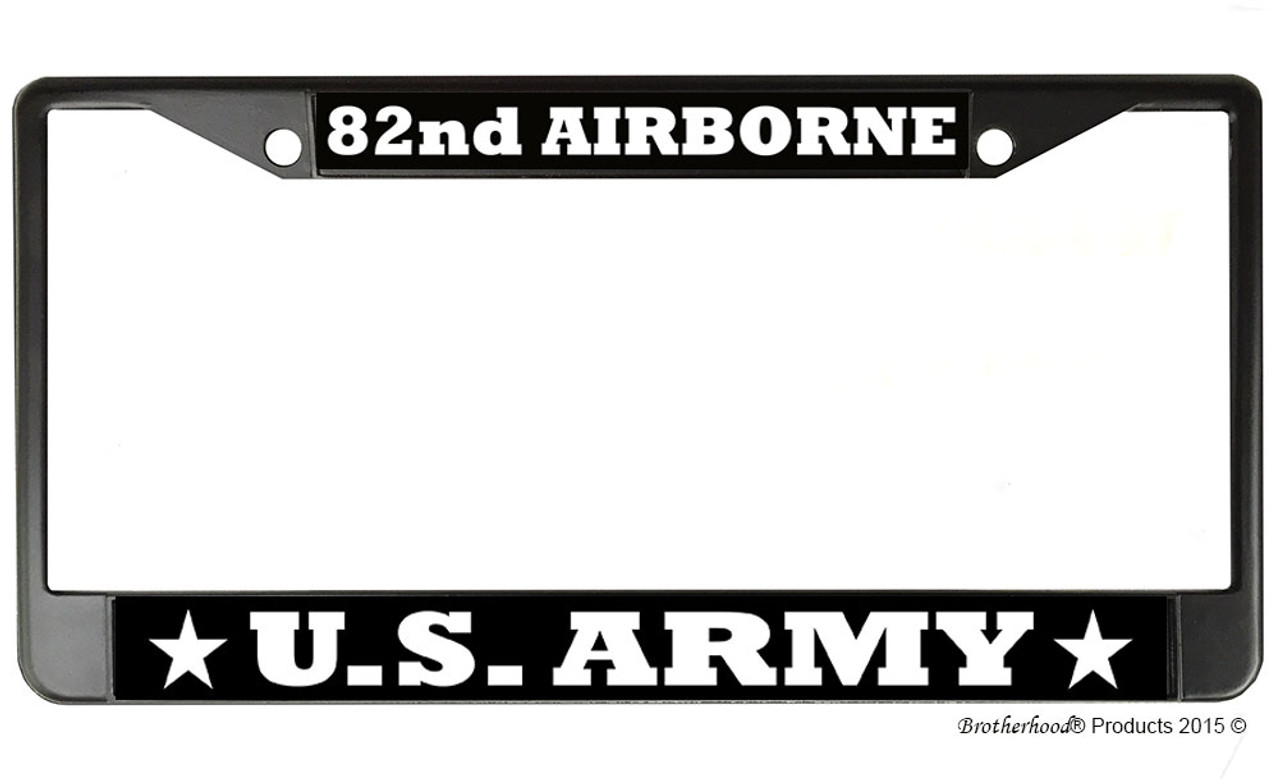 United States Army 2nd Infantry Division Embossed License Plate