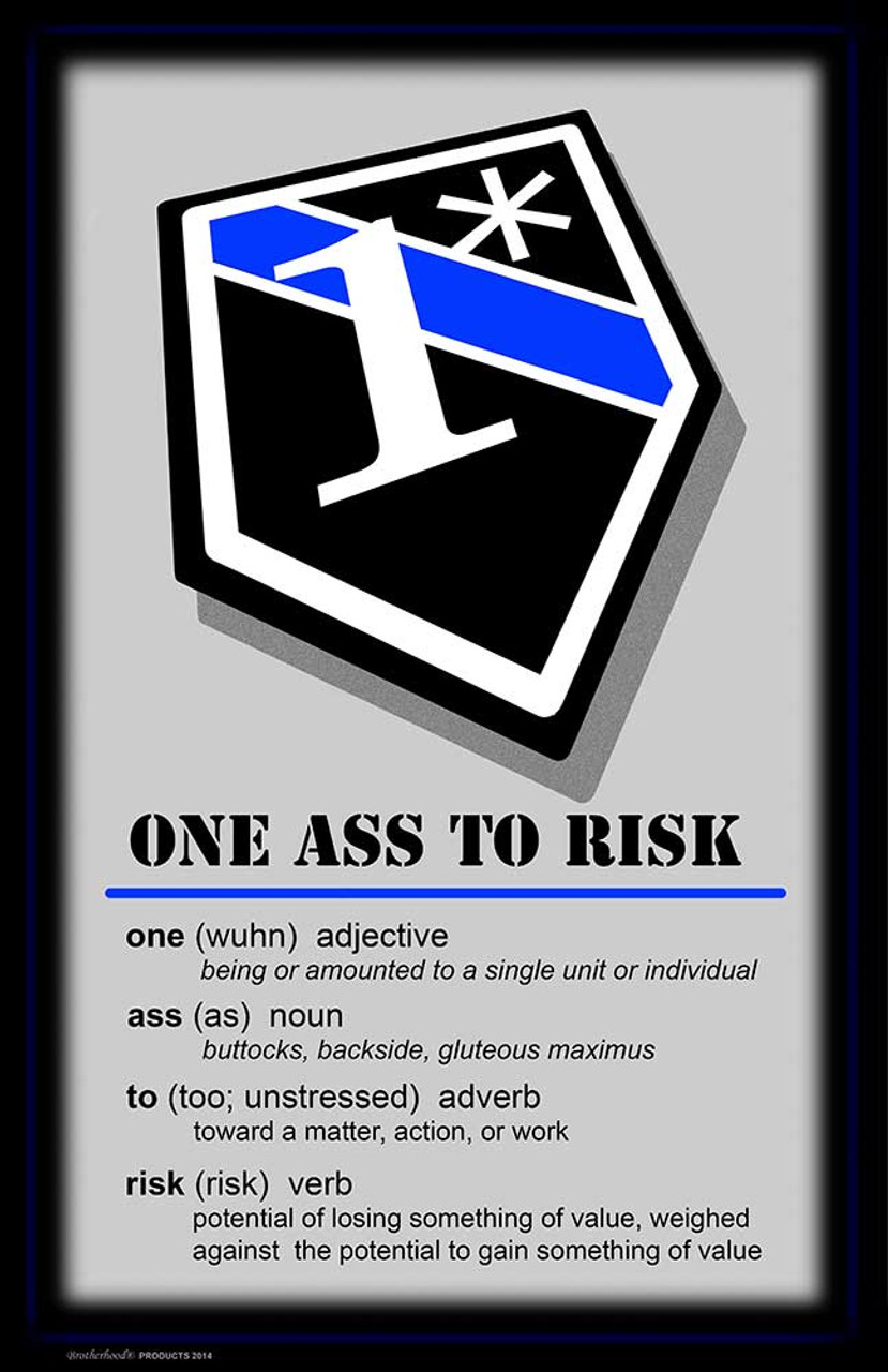 One Ass To Risk Definition Poster