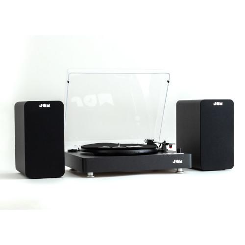JAM Bookshelf Speaker & Stream Turntable Bundle - Black